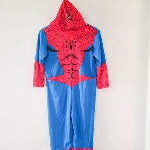 Marvel spiderman costume with hood size 10-12